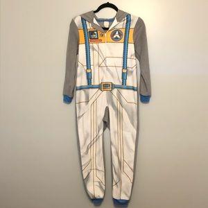 Cat & Jack Onesie Fleece Pajamas Astronaut 8/10